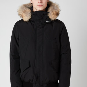 Woolrich Men's Polar Fur Collar Jacket - Black