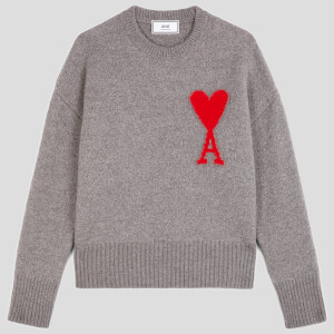 AMI Women's Heart Jumper - Grey