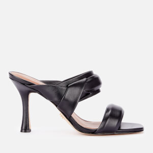 Kurt Geiger London Women's Brandy Leather Heeled Mules - Black