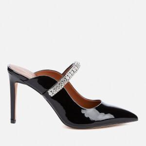 Kurt Geiger London Women's Duke Leather Heeled Mules - Black