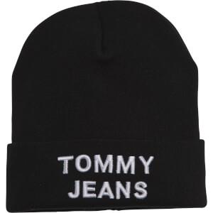 Tommy Jeans Men's Tjm Logo Beanie - Black