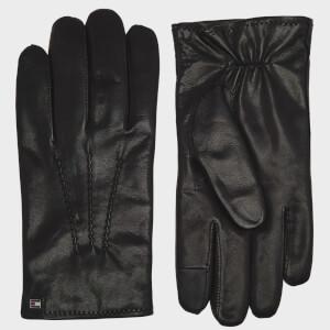 Tommy Jeans Men's Flag Leather Gloves - Black