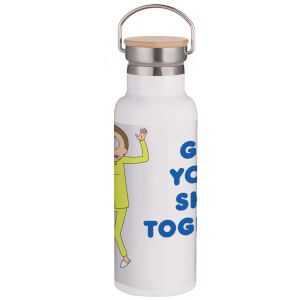 Rick & Morty Get Your Shit Together Portable Insulated Water Bottle - White