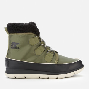 Sorel Women's Explorer Carnival Waterproof Boots - Hiker Green/Black