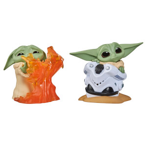 Hasbro Star Wars The Bounty Collection The Child Helmet Hiding Pose and Stopping Fire Pose 2 Pack Figures