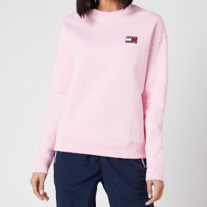 Tommy Jeans Women's TJW Tommy Badge Crew Sweatshirt - Romantic Pink