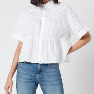 Tommy Jeans Women's Gather Detail Blouse - White