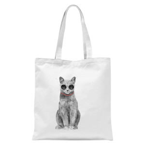 Summer Cat Tote Bag - White