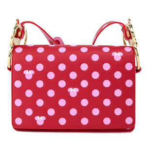 Loungefly Disney Minnie Mouse Pink Polka Dot Strap Crossbody Bag
