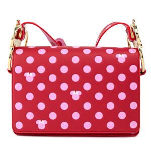 Loungefly Disney Minnie Mouse Pink Polka Dot Strap Crossbody Bag