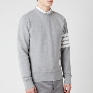 Thom Browne Men's Engineered 4-Bar Stripe Loopback Sweatshirt - Light Grey