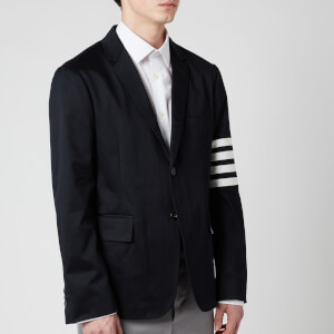Thom Browne Men's Unconstructed Classic Single Breasted Sport Jacket - Navy