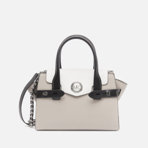 Michael Michael Kors Women's Carmen Small Flap Satchel - Pgry/Opt/Blk