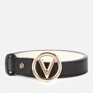 Valentino by Mario Valentino Women's Round Belt - Black