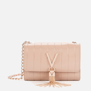 Valentino by Mario Valentino Women's Bongo Patent Chain Clutch - Taupe