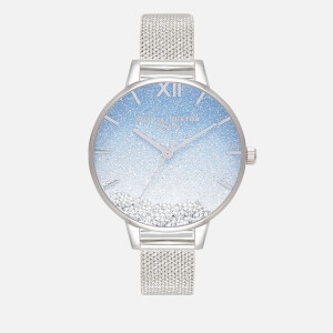 Olivia Burton Women's Under The Sea Wishing Wave Mesh Watch - Silver