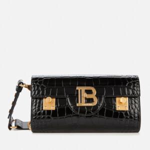 Balmain Women's Bbuzz Croco Belt Bag 23 - Black