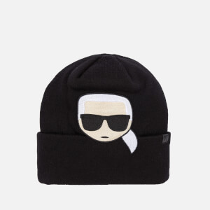 Karl Lagerfeld Women's K/Ikonik Embroidery Beanie - Black