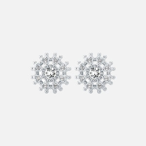 Ted Baker Women's Leslea: Love Blossom Stud Earrings - Silver/Black/Crystal