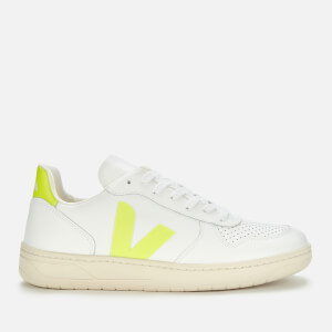 Veja Men's V-10 Leather Trainers - Extra White Jau Fl