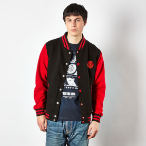 Doctor Who Gallifreyan Varsity Women's Varsity Jacket - Black/Red