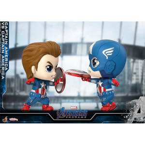 Hot Toys Cosbaby Marvel Avengers: Endgame - Captain America VS Captain America (Set of 2) Figure