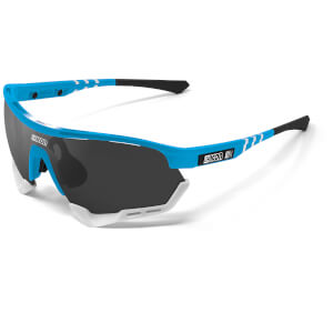 Scicon Aerotech XL Israel Cycling Academy 2020 Edition Sunglasses - Cyan/SCNPP Multilaser Blue
