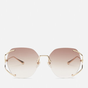 Gucci Women's Metal Frame Sunglasses - Gold/Brown