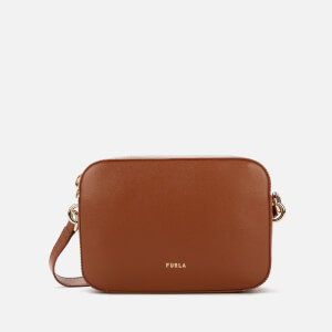 Furla Women's Block Mini Cross Body Bag - Cognac