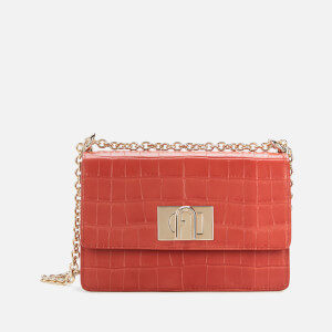 Furla Women's Mini Croco Cross Body 20 Bag - Chili Oil