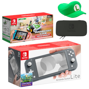 Nintendo Switch Lite (Grey) Mario Kart Live: Home Circuit - Luigi Set Pack