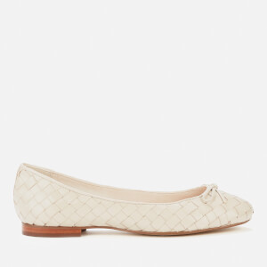 Dune Women's Heyday Woven Leather Ballet Flats - Ecru