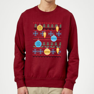 Friends Baubles Sweatshirt - Burgundy
