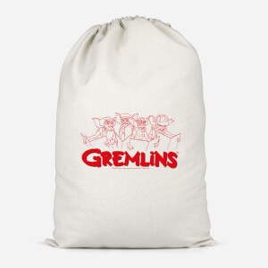 Gremlins Christmas Carolling  Cotton Storage Bag