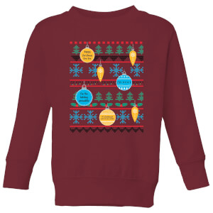 Friends Baubles Kids' Sweatshirt - Burgundy