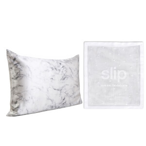 Slip Exclusive Silk Marble Pillowcase Duo and Delicates Bag (Worth $193.00)