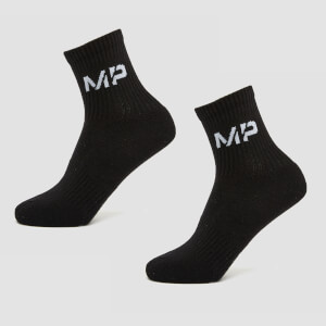 MP Women's Core Crew Socks (2 Pack) Black