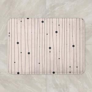 Yasmin Fatollahy Lines And Dots Bath Mat