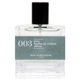 Bon Parfumeur 003 Yuzu Violet Leaves Vetiver Eau de Parfum (Various Sizes)