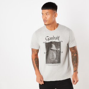 Lord Of The Rings Gandalf Men's T-Shirt - Grey
