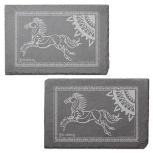 Lord Of The Rings Coronation Heraldry Engraved Slate Placemat - Set of 2