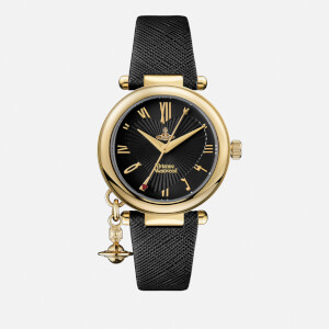Vivienne Westwood Women's Orb Heart Watch - Black/Gold