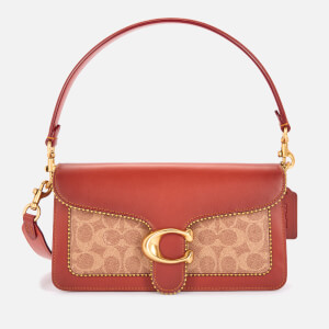 Coach Women's Signature/Beadchain Tabby Shoulder Bag 26 - Tan Rust