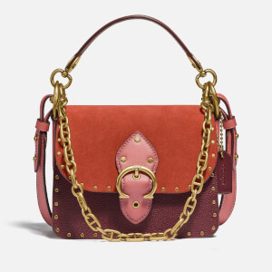 Coach New York Women's Colorblock Beat Shoulder Bag 18 - Rust Multi