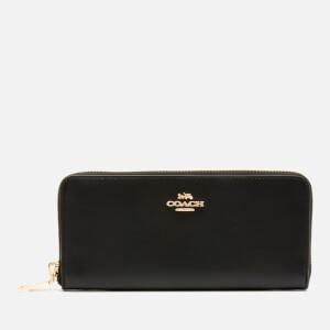 Coach Women's Slim Accordion Zip Wallet - Black