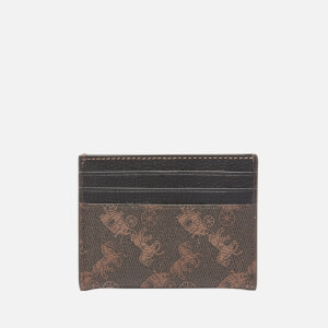 Coach New York Women's Horse and Carriage Flat Card Case - Black Brown