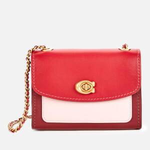 Coach Women's Colorblock Parker 18 Shoulder Bag - Red