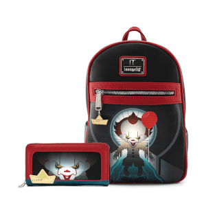 Loungefly IT Pennywise Sewer Scene Mini Backpack and Wallet Set