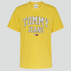 Tommy Jeans Women's Tjw Collegiate Logo T-Shirt - Star Fruit Yellow