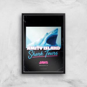 Jaws Amity Island Shark Tours Giclee Art Print
